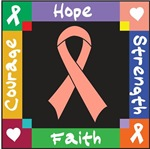 Uterine Cancer Hope Ribbon Shirts