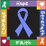 Intestinal Cancer Courage Hope Shirts