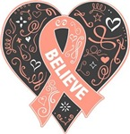 Uterine Cancer Believe Shirts