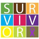 Fibromyalgia Survivor Tile Shirts