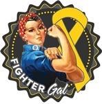 Childhood Cancer Fighter Gal Shirts