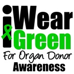 I Wear Green For Organ Donor Awareness T-Shirts