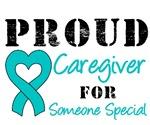 Proud Caregiver Teal Ribbon T-Shirts & Gifts
