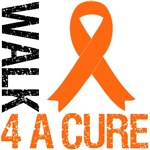 Walk 4 A Cure Orange Ribbon Shirts & Gifts