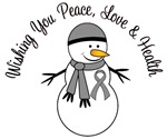 Christmas Snowman Grey Ribbon Cards & Gifts