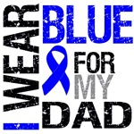I Wear Blue Colon Cancer Dad Shirts & Gifts