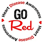 Heart Disease GO RED Awareness Gifts & Shirts