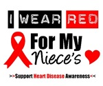 I Wear Red Niece Heart Disease Shirts & Gifts