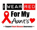 I Wear Red Aunt Heart Disease Shirts & Gifts