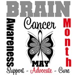 Brain Cancer Awareness Month Butterfly Shirts