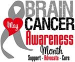 Brain Cancer Awareness Month Tees & Shirts