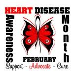 Butterfly Heart Disease Awareness Month Shirts