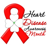 Flower Ribbon Heart Disease Month Shirts and Gifts