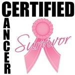Certified Breast Cancer Survivor Shirts