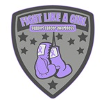 General Cancer Fight Like A Girl Badge