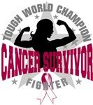 Throat Cancer Tough Survivor Shirts