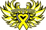 Testicular Cancer Heart Wings Shirts