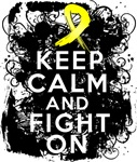Testicular Cancer Keep Calm and Fight On Shirts