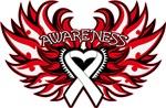 Bone Cancer Heart Wings Shirts