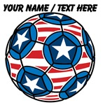 Custom Stars And Stripes Soccer Ball