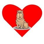 Shar Pei Heart