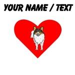 Custom Shetland Sheepdog Heart