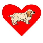 Clumber Spaniel Heart
