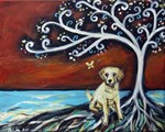 Yellow Lab Tree of Life red love
