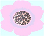 Light Pink Flower Leopard Print