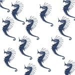 Blue Sea Horses