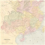 Vintage China Map