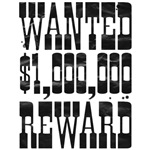 wanted $1000000 reward