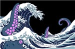the great wave and the giant octopus