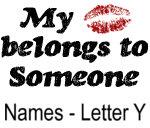 My Kiss Belongs - Names - Letter Y