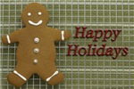 Happy Holidays Gingerbread Man