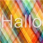 HALLO checkered