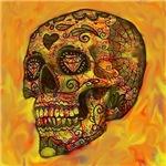Skull,abstract