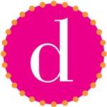 d monogram, pink