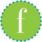 f monogram, lime
