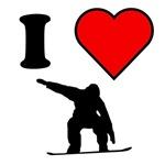 I Heart Snowboarding