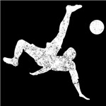 Distressed Bicycle Kick Silhouette