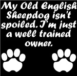 Well Trained Old English Sheepdog Owner