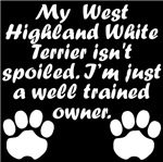 Well Trained West Highland White Terrier Owner