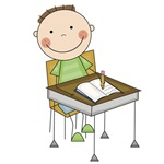 Boy Doing Homework T-shirts and Gifts