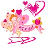 Angel Love Valentine Gifts and Tees