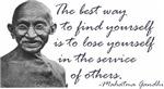 Gandhi Quote - Best way to find yourself