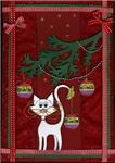Handmade Kitty Jingle Christmas Card Clothing