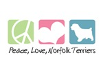 Peace, Love, Norfolk Terriers