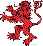 Lion Red Black