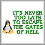It's never too late to escape the gates of hell